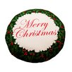 Dogzzzz Christmas Wreath Dog Pillow with Removable Cover