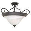 Nuvo Lighting Castillo 3 Light Semi Flush Mount