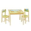 Guidecraft Savanna Smiles Kids 3 Piece Rectangle Table and Chair Set