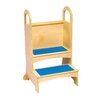 Guidecraft Household Helpers 2-Step Birch Plywood High Rise Step Stool with 125lb. Load Capacity