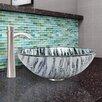 Vigo Rising Moon Glass Vessel Bathroom Sink and Otis Faucet Set