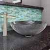 Vigo Interspace Glass Vessel Bathroom Sink and Shadow Faucet Set