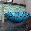 Vigo Mediterranean Seashell Glass Vessel Bathroom Sink and Duris Faucet Set