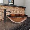 Vigo Glass Vessel Bathroom Sink and Linus Faucet Set