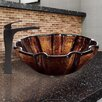 Vigo Shell Glass Vessel Bathroom Sink and Blackstonian Faucet Set