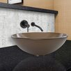 Vigo Sheer Frost Glass Vessel Sink and Olus Wall Mount Faucet Set