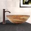 Vigo Swirl Glass Vessel Sink and Otis Faucet Set