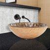 Vigo Playa Glass Vessel Sink and Olus Wall Mount Faucet Set