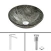 Vigo Titanium Glass Vessel Sink and Duris Faucet Set