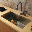 "Vigo 32"" x 19"" Undermount 16 Gauge Single Bowl Kitchen Sink with Faucet and Soap Dispenser"