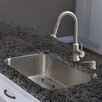 """Vigo Platinum 30"""" x 18"""" All in One Undermount Kitchen Sink with Faucet"""