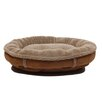 Zoey Tails Faux Suede Round Comfy Cup Donut Dog Bed