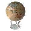 "MOVA Globes 8.5"" Globe with Crystal Base in Antiqued Beige"