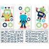 NoJo Baby Bot Wall Decal (Set of 5)