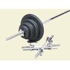 USA Sports by Troy Barbell 110 lbs Standard threaded weight set in Black