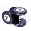 Troy Barbell 125 lbs Pro-Style Cast Dumbbells in Black (Set of 2)