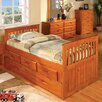 Discovery World Furniture Weston Twin Slat Bed with Storage