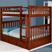Discovery World Furniture Weston Full over Full Bunk Bed with Built-In Ladder