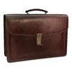 Jack Georges Belting Double Gusset Leather Briefcase