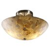 Justice Design Group Alabaster Rocks Ring 2 Light Semi Flush Mount