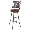 "Stone County Ironworks Coffee Cup 25"" Swivel Bar Stool with Cushion"
