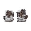 Mikasa Rustic Flowers Metal and Glass Votive (Set of 2)