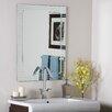 Decor Wonderland Frameless V-Groove Wall Mirror