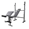 Body Flex Body Champ Mid Width Weight Bench with Preacher Curl and Leg Developer