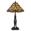 """Meyda Tiffany Middleton 26"""" H Table Lamp with Cone Shade"""