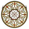 Meyda Tiffany Victorian Fleuring Medallion Stained Glass Window