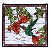 Meyda Tiffany Floral Hummingbird Stained Glass Window