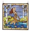 Meyda Tiffany Victorian Ecstasy in Woodland Stream Stained Glass Window