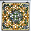 Meyda Tiffany Tiffany Shamrock Garden Stained Glass Window