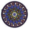 Meyda Tiffany Violet Rosette Medallion Stained Glass Window