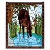 Meyda Tiffany Deer Stained Glass Window