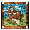 Meyda Tiffany Lodge Tiffany Beached Guideboat Stained Glass Window