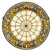 Meyda Tiffany Victorian Fleur-De-Lis Medallion Stained Glass Window