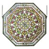 Meyda Tiffany Victorian Front Hall Floral Stained Glass Window