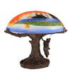 "Meyda Tiffany Maxfield Parrish 13"" H Table Lamp with Bowl Shade"
