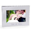 Cathys Concepts Mr. and Mrs. Beaded Silver Frame