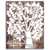 Cathys Concepts Our Family Tree Gallery Wrapped Canvas Guest Book