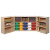 Steffy Wood Products Folding 38 Compartment Cubby
