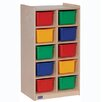 Steffy Wood Products 10-Tray Mobile Cubicle Unit