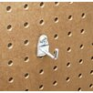 Triton Products DuraHook 1-1/8 In. Single Rod 90 Degree Bend 3/16 In. Dia. Zinc Plated Steel Pegboard Hook for DuraBoard, 10 Pack