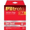 Eureka® Dirt Devil Size U Filtrete™ Vacuum Bag (Pack of 3)