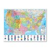 Universal Map Advanced Political Rolled Map - Paper