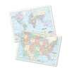 Universal Map U.S. & World Transparency Pack