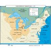 Universal Map U.S. History Wall Maps - Northwest Territory