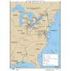 Universal Map U.S. History Wall Maps - War of 1812