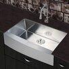 """Stufurhome 30"""" x 20"""" Farmhouse Apron Single Basin Kitchen Sink"""